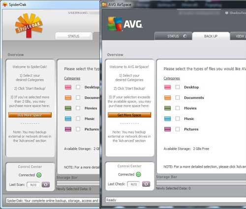 AVG LiveKive and its cousin, SpiderOak