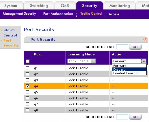Configuring Port Security