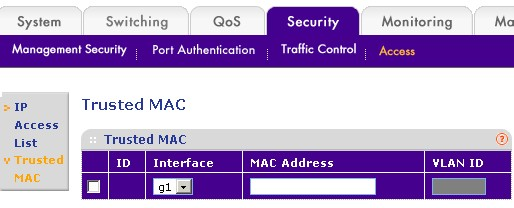 Trusted MAC address
