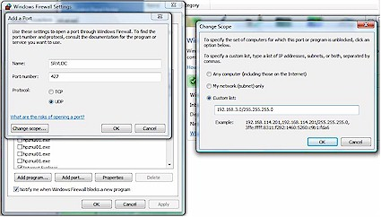 Setting Windows Firewall Exceptions