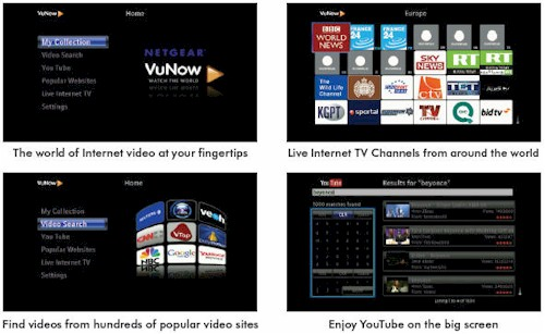 Netgear ITV2000 Internet TV Player screenshots