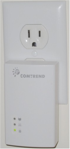 Comtrend PG-9172 plugged in