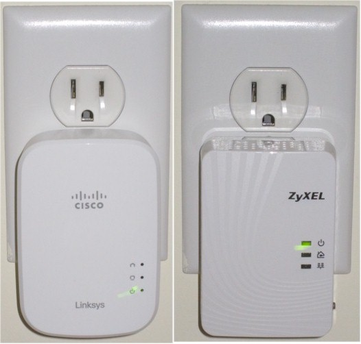 Linksys PLE500 / ZyXEL PLA5205 plugged in