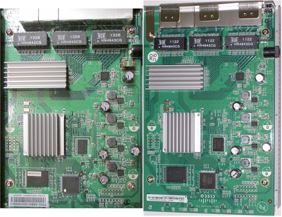 Linksys LRT214 and Cisco RV042G boards