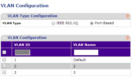 Netgear GS108Tv1 Enable Port-Based VLAN