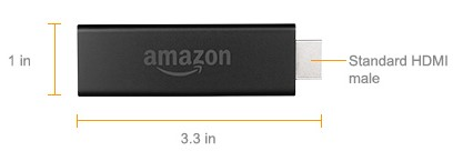 Amazon Fire TV Stick dimensions