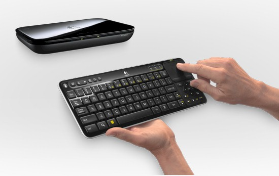Logitech Revue with Google TV box and keyboard