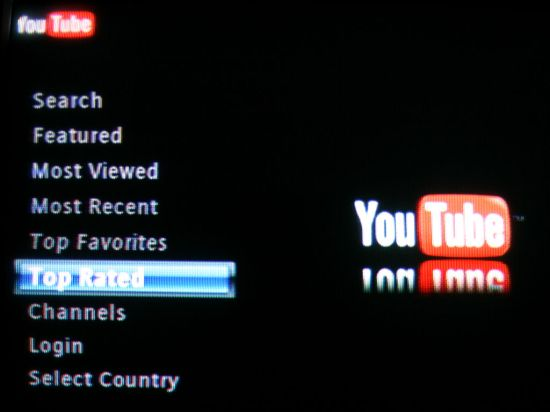 YouTube search options