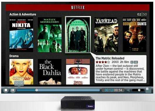 "The new  Netflix interface on Roku, ""coming soon"""