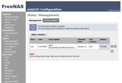 Disk Configuration