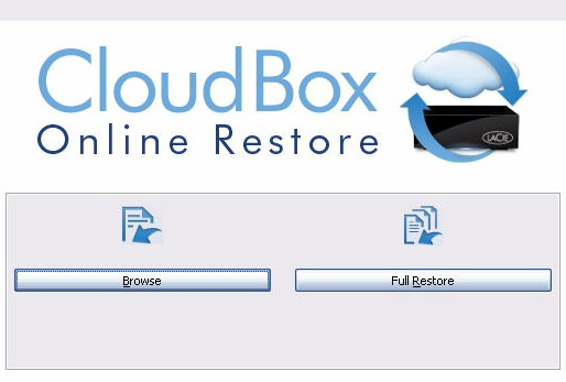 CloudBox Online Restore options