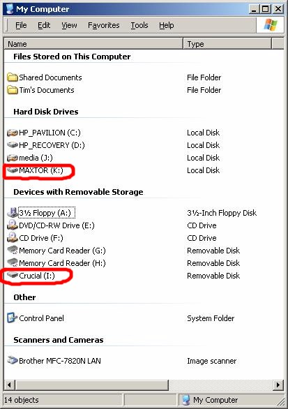 GUIP201 connected drives in My Computer