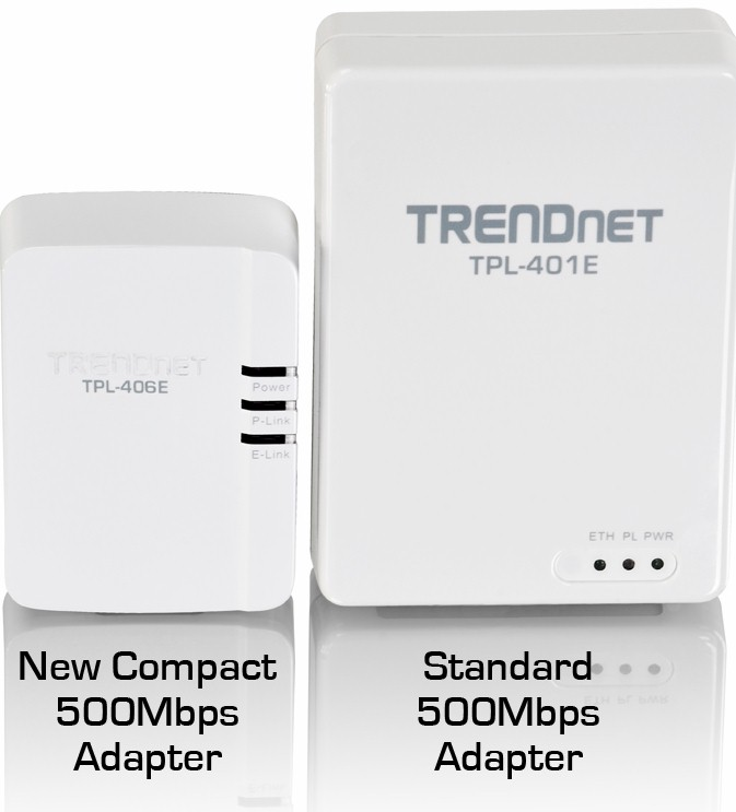 TRENDnet TPL-406E 500 Mbps Compact Powerline AV Adapter