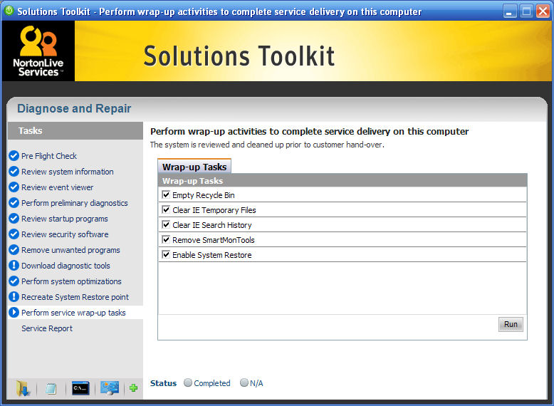 Solution Toolkit wrap-up tasks