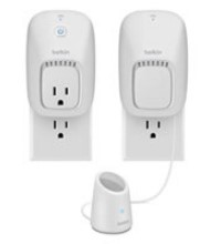 Neither the Belkin WeMo switch nor the Wemo Motion Sensor block the bottom plug