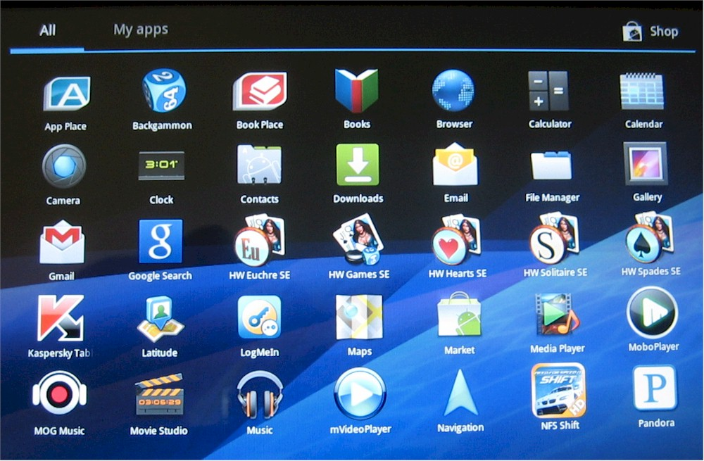 Toshiba Thrive apps