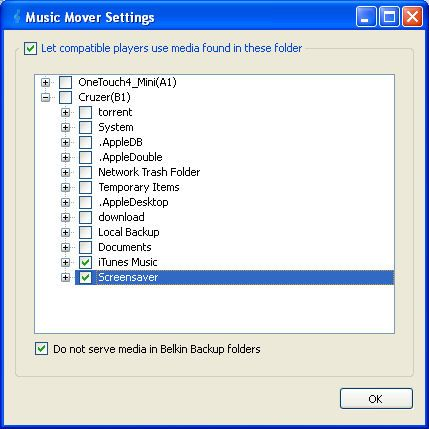 Music Mover Settings