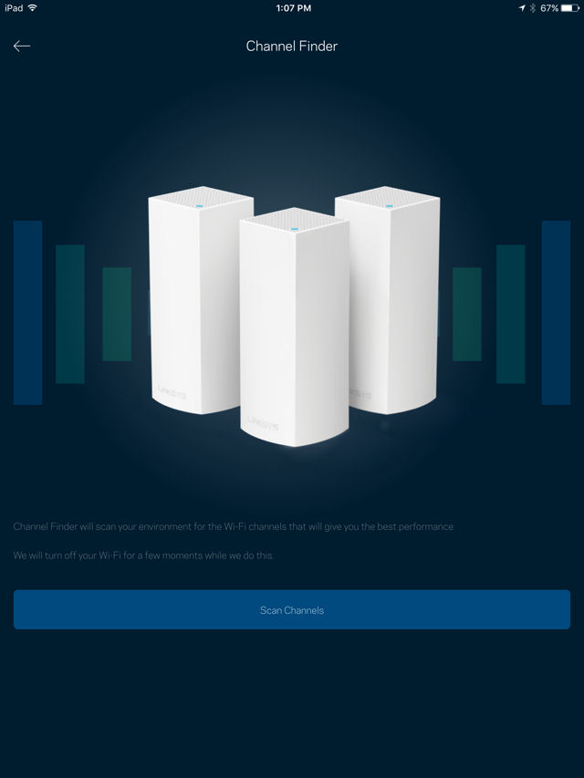 Linksys Velop Channel Finder