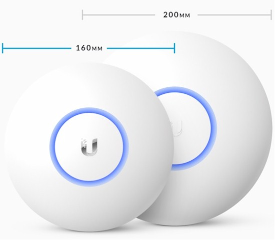 Ubiquiti UAP-AC-Lite and PRO APs size comparison
