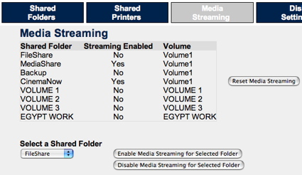 Media Streaming Configuration