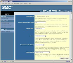 SMC2870W - Bridge mode Basic Settings, Web interface